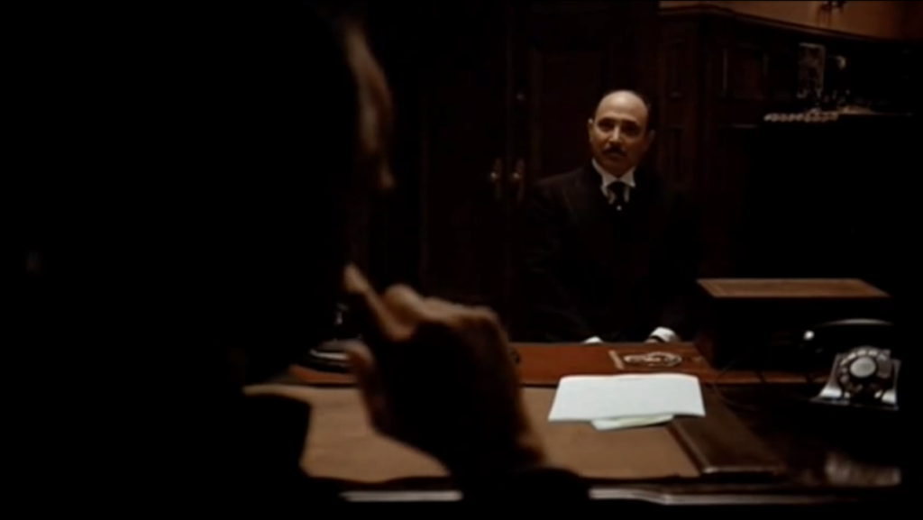 The Godfather Opening Scene. Regie: Francis Ford Coppola. Copyright: Paramount. Hier bei Amazon*.