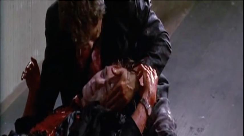 Still aus der letzten Szene von Reservoir Dogs